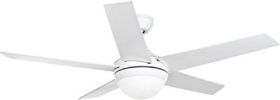 Plafondventilator wit voor 2x E27 lamp incl. afstandsbediening Ø132cm