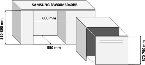 Samsung DW60M6040BB/EG