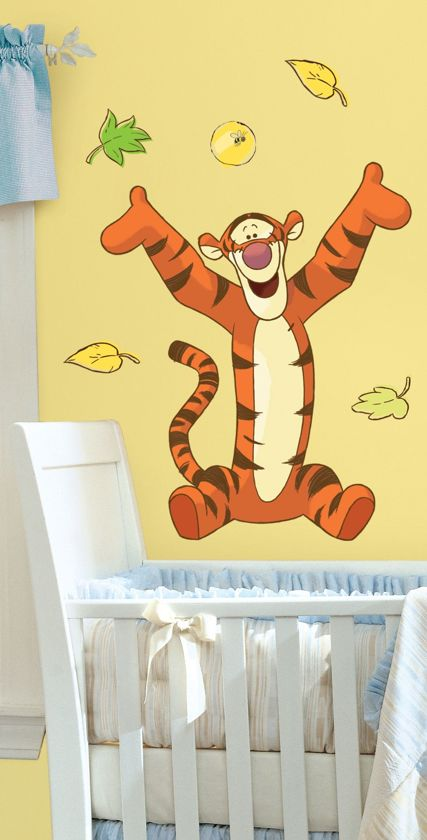 Muurstickers Babykamer Tijgertje.Roommates Disney Winnie The Pooh Tijgertje Muurstickers Multi