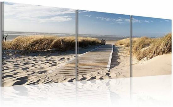 Schilderij uitzicht op Noordzee (150x50cm)