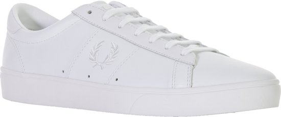 Spencer Tumbled SneakersMaat 40 Mannen Leather Fred Perry Wit gYf7yb6mIv