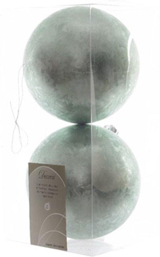Kerstbal kunststof ijslak 10cm eucalyptus 2st