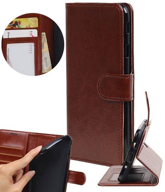 | Huawei P10 Lite Portemonnee hoesje booktype wallet Bruin | WN™