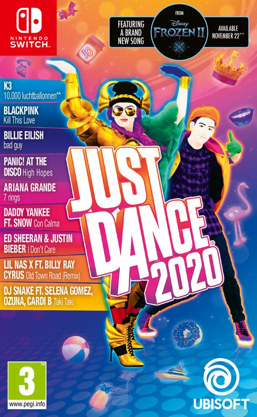 Cover van de game Just Dance 2020 - Switch