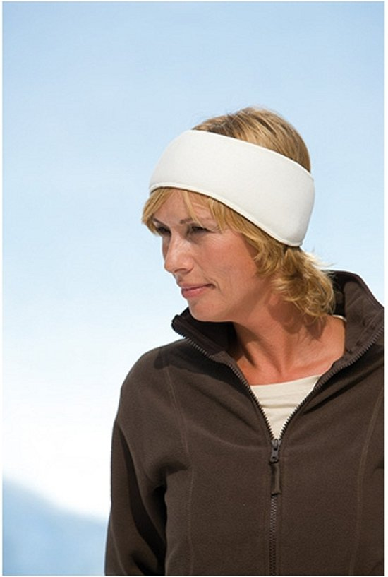 Fleece hoofdband  Naturel