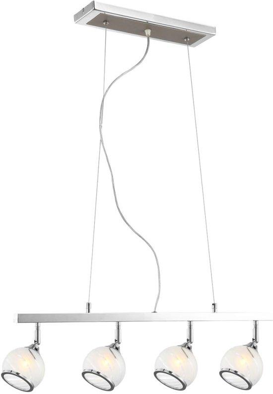GLOBO Hanglamp AILA chroom en mat nikkel 56568-4H