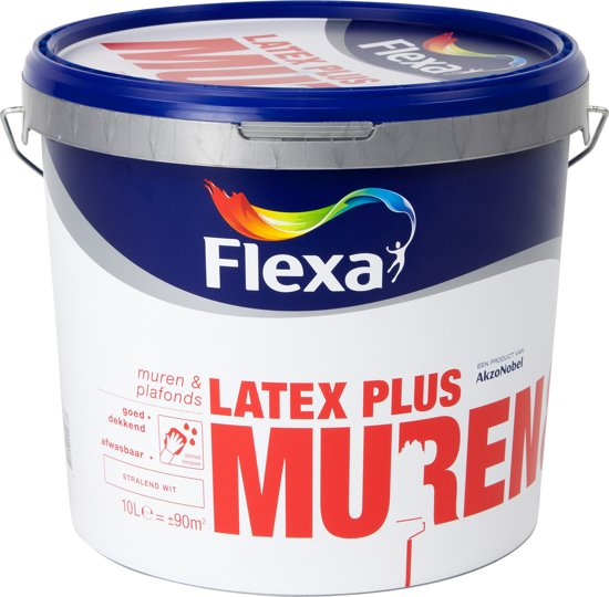 Beroemd bol.com   Flexa Latex Plus Witte Muurverf - Muren & Plafonds - Wit MZ45
