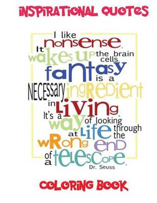 Bolcom Inspirational Quotes Coloring Book 9781532740961 S J