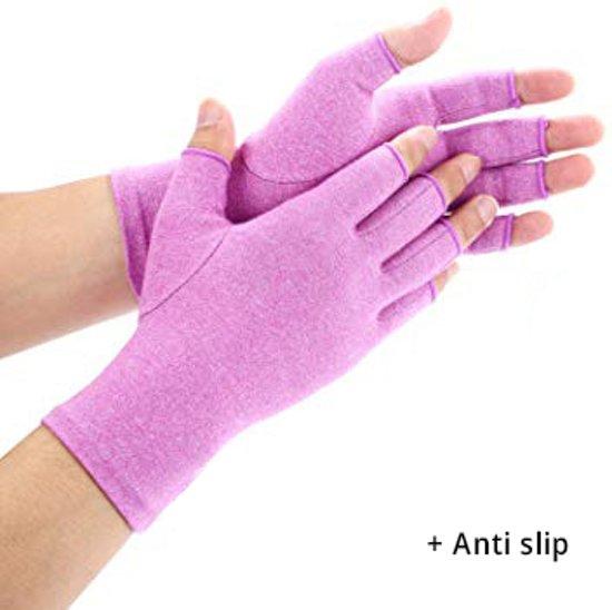 Pro-orthic Reuma Artritis Handschoen Anti-Slip Paars - Medium