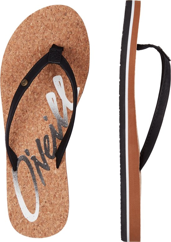 O'Neill Slippers Logo cork - Black Out - 42