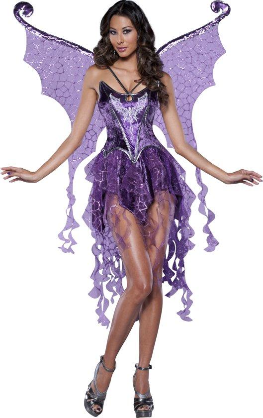 Fee Kostuum Dames.Paars Feen Kostuum Voor Dames Premium Verkleedkleding Large