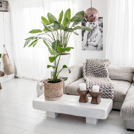 tafel wit met hout