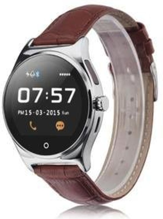 Casual smartwatch horloge fitness tracker bluetooth Zilver DisQounts