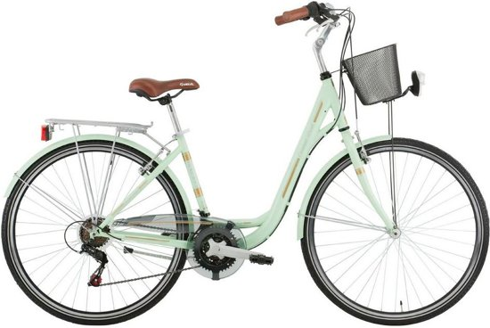 Excel Central Park - Hybridefiets - Dames - Groen - 48 cm