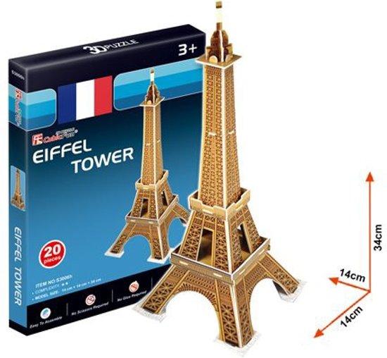 Ontwerper Toren Van Pisa.Bol Com 3d Puzzel Eiffel Toren 20dlg Cubicfun Speelgoed