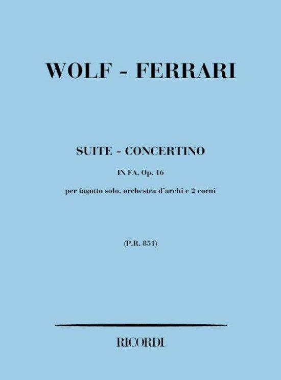 Suite - Concertino In Fa Op. 16