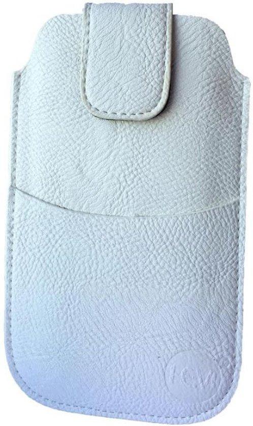Huawei Y360 Wit Insteekhoesje met riemlus en opbergvakje