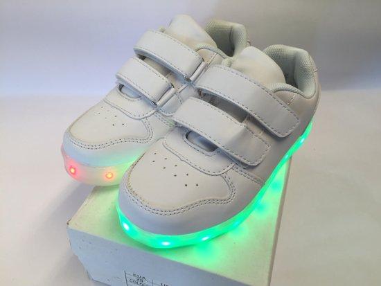 Sneakers Met Licht : Bol led sneakers met instelbaar licht klittenband maat