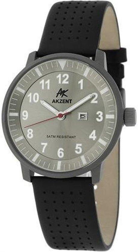Mooi heren horloge met een neo index met datumaanduiding van het merk AKZENT