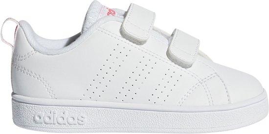 Adidas vs advantage clean sneakers wit roze kinderen