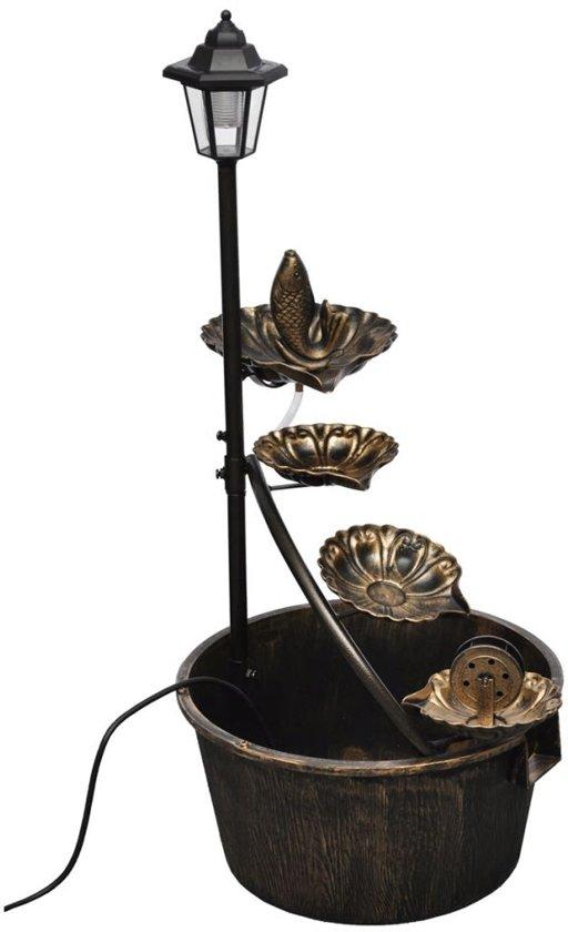 vidaxl fonteinpomp waterpartij 4 traps met led verlichting 40540