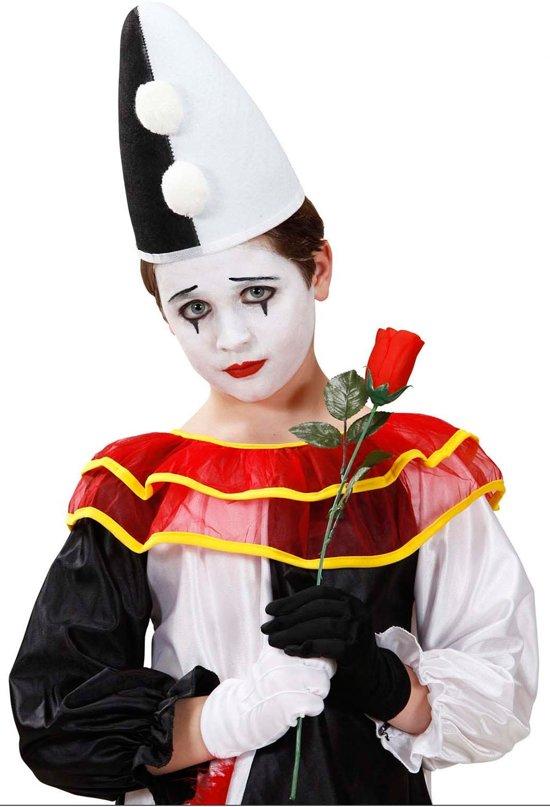 Pierrot hoed voor kinderen - Verkleedhoofddeksel