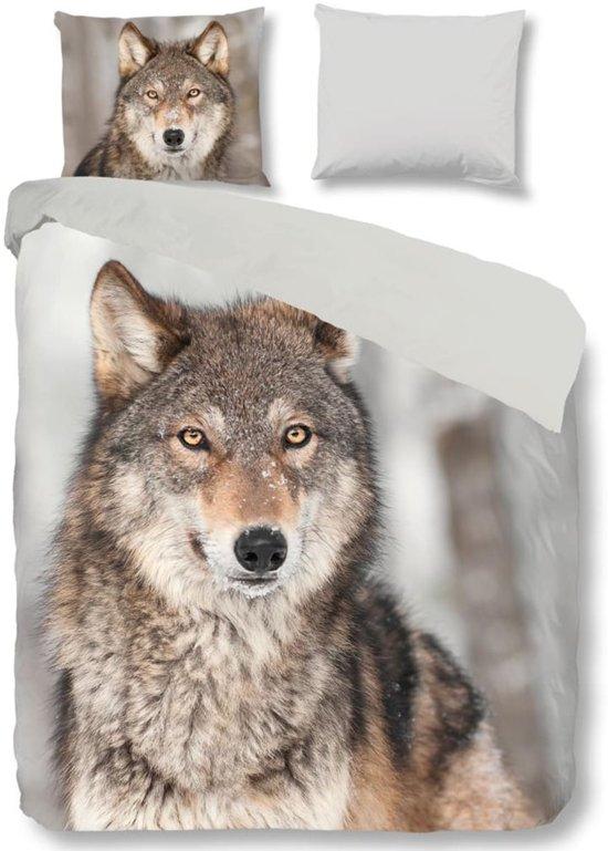 Good Morning 5703-P Wolf - dekbedovertrek - lits jumeaux - 240x200/220 cm  - 100% katoen - multi