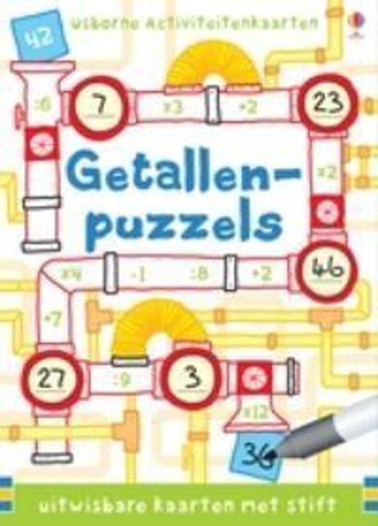 Puzzelkaarten nummer puzzels