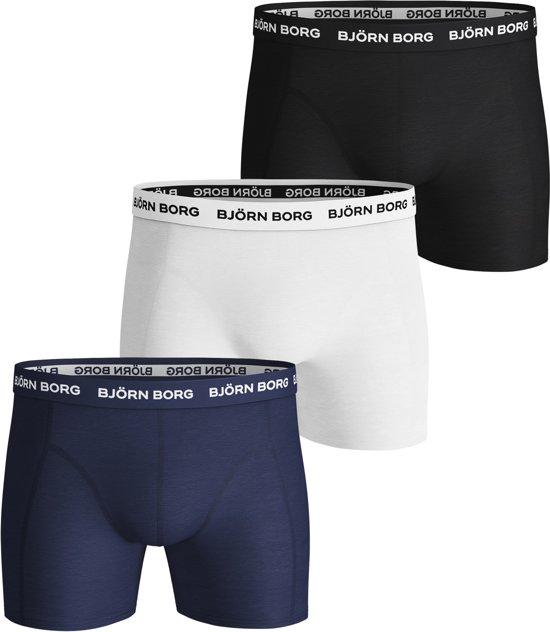 2111463b03b71b bol.com | Bjorn Borg Heren Boxershorts - 3-pack - Blauw/Wit/Zwart ...