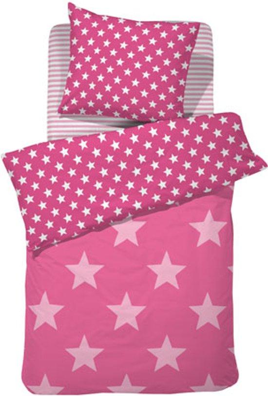 Damai Starville kinder dekbedovertrek - Pink - 1-persoons (140x200/220 cm + 1 sloop)