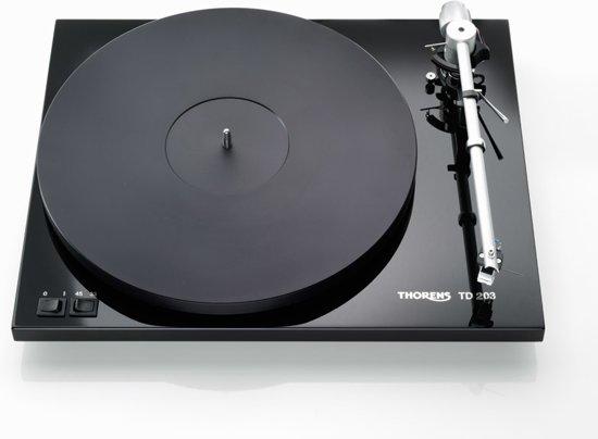 Thorens TD203 Draaitafel met riemaandrijving Zwart