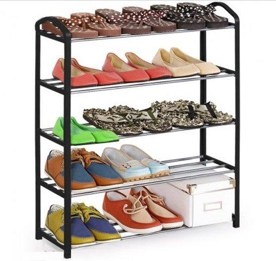 Schoenenrek voor 15 paar schoenen met 5 planken for Boeken opbergsysteem