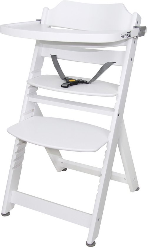 Meegroei Kinderstoel Wit.Bol Com Meegroei Kinderstoel Freeon Moon Luxe White Incl Eetblad
