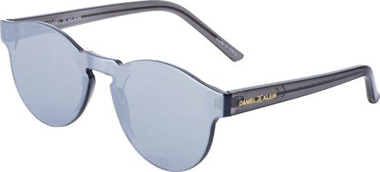 383ec7385b0dd0 Daniel Klein ® - Rond Flat Gespiegeld - Zonnebril - Zwart - Polarized - 55mm