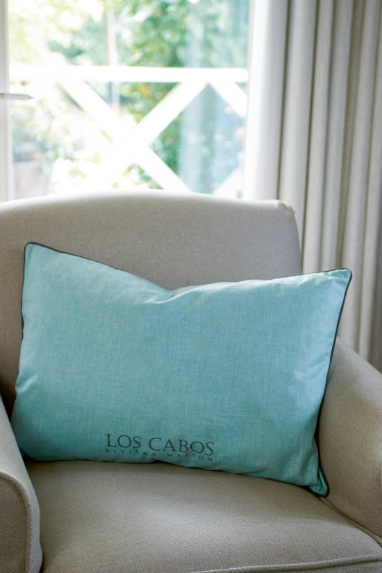 Riviera Maison Los Cabos Zipper pillowcover - sierkussenhoes - 50x50 cm - mint