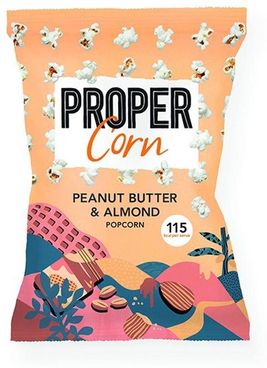 Propercorn Popcorn - 90 gram - Smooth Peanut & Almond