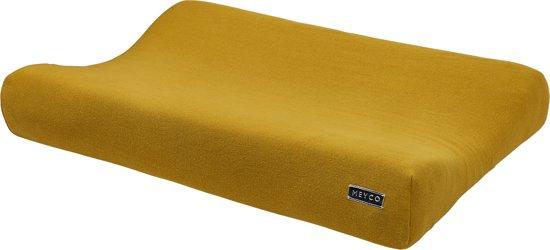 Meyco Knit Basic aankleedkussenhoes - okergeel