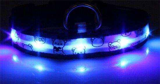 Hondenriem Met Licht : Bol led licht honden halsband blauw m standen