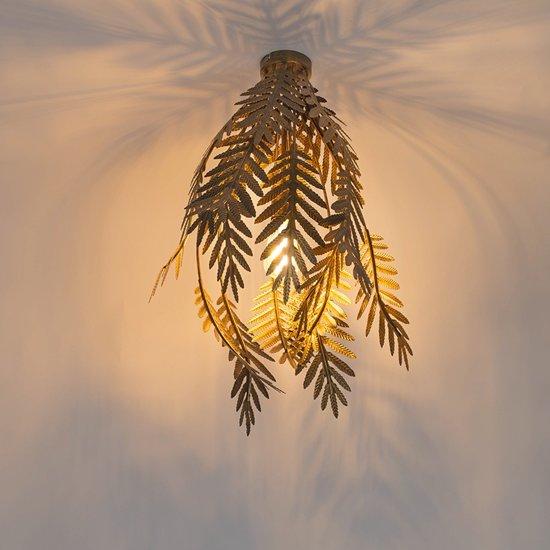 QAZQA Botanica - Plafondlamp - 1 lichts - Ø 450 mm - Goud/messing