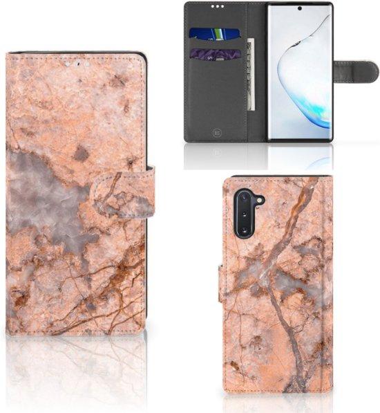 Bookcase Samsung Galaxy Note 10 Marmer Oranje