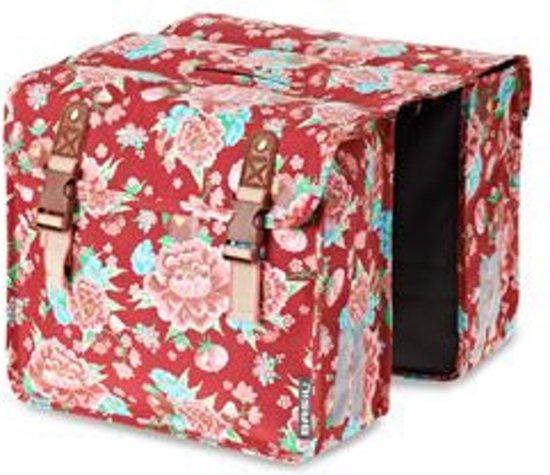 Basil Bloom Girls Double Bag - Dubbele Kinderfietstas - 20 l - Scarlet Rood
