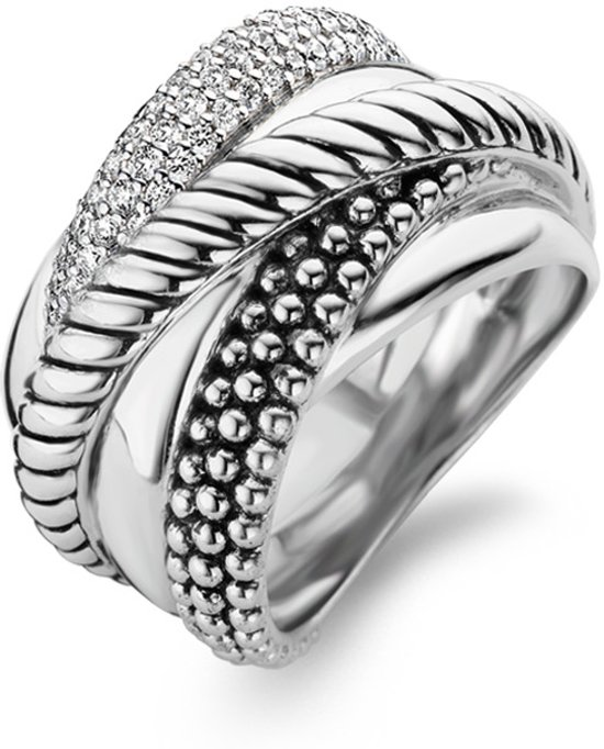 TI SENTO Milano Ring 12003ZI - Maat 58 (18,5 mm) - Gerhodineerd Sterling Zilver