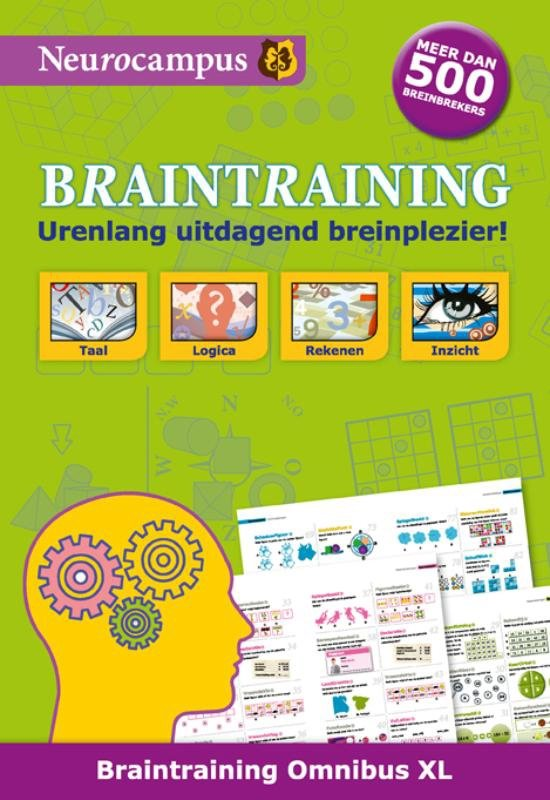 Boek cover Braintraining omnibus XL van Robert Bolhuis (Paperback)