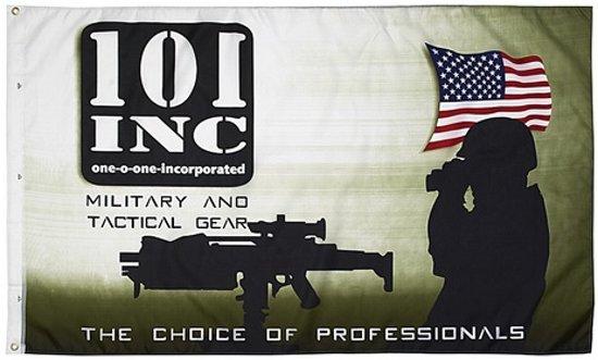 Militaire 101 inc vlag, legervlag 90 x 150
