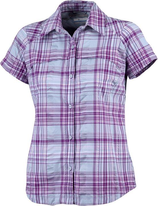 grijs Korte Xl Geruit Maat Paars Columbia Blouse ShirtDames Multiplaid Short Sleeve Silver Ridge Mouwen yv0wNOm8nP