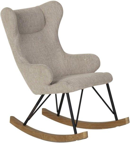 Schommelstoel Voor Mama.Quax Schommelstoel Rocking Kids Chair De Luxe Sand Grey