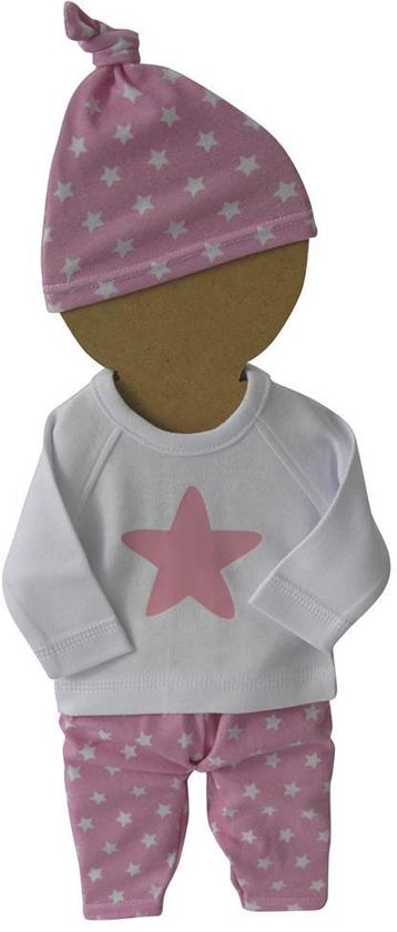 Amelius kledingset - Roze / Wit - Maat 38