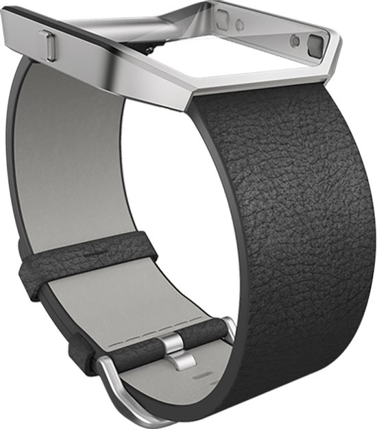 Fitbit Blaze Accessory Band Leer - Zwart - Small