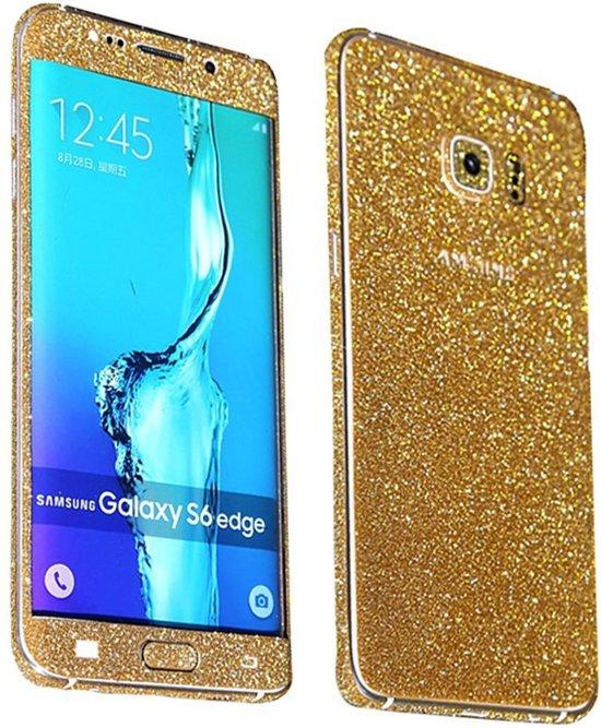 Xssive Glitter Sticker voor Samsung Galaxy S6 Edge G925 Goud Duo Pack - 2 stuks