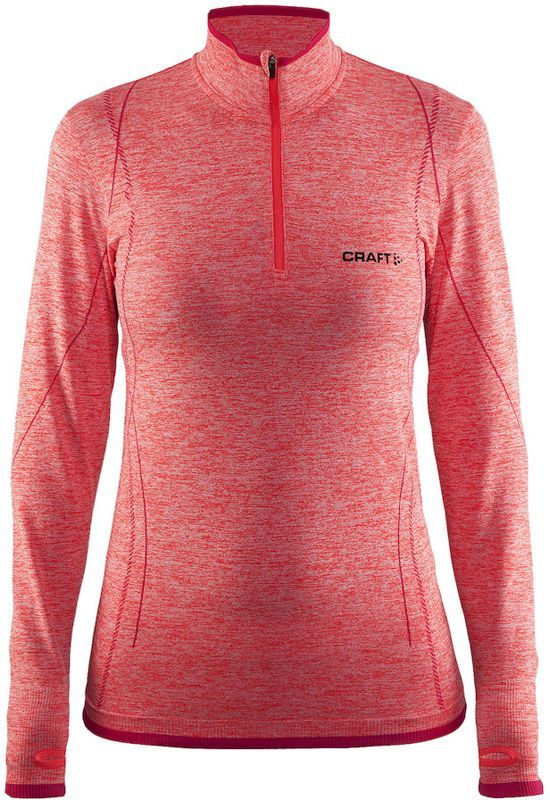 Craft Active Comfort Zip Sportshirt Dames - Crush